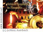 Schloss Auerbach in Flammen...