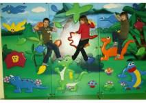 Kinder an Kletterwand Regenbogenland Bad Sachsa (c) Landal GreenParks/Salztal Paradies