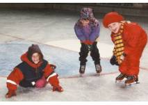 Eislaufkurs in der Eissporthalle in Bitburg