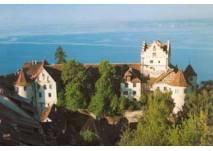 Blick auf die Burg Meersburg und den Bodensee