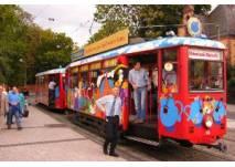 Fahrt mit dem Ebbelwei-Express in Frankfurt