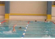 Blick ins Schwimmerbecken im Hallenbad