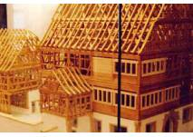 Modell des Hornmoldhauses in Bietigheim-Bissingen
