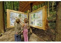 Kinder vor dem Naturlexikon Naturerlebnispfad Oberhamersbach