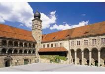 Hof und Fassade der Plassenburg in Würzburg