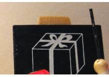 Schreib-Tafel mit Geschenkemotiv