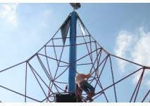 Seilkonstruktion als Klettergerüst