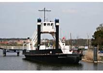 """Eisenbahndampffährschiff """"Stralsund"""" in Wolgast"""