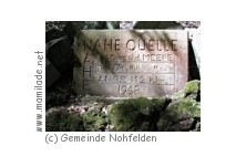 Nohfelden- Selbach - Nahequelle mit Wildgehege