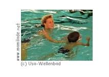 Säuglings-Wassergewöhnung Usa-Wellenbad Bad Nauheim
