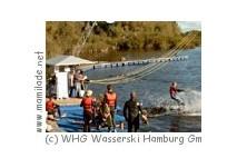 Wasserskilift am Neuländer See in Hamburg