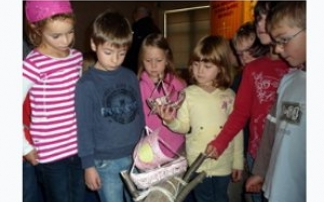 Kinder im Verkehrsmuseum Dresden (c) Verkehrsmuseum Dresden