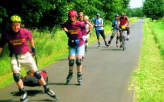 Inline-Skating auf der Fläming-Skate