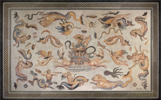 Lebendiges Römer-Mosaik in Bad Vilbel