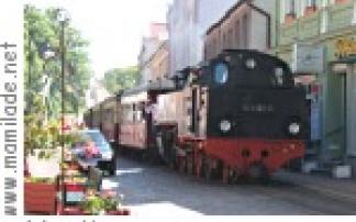 Molli Bäderbahn zwischen Bad Doberan und Kühlungsborn