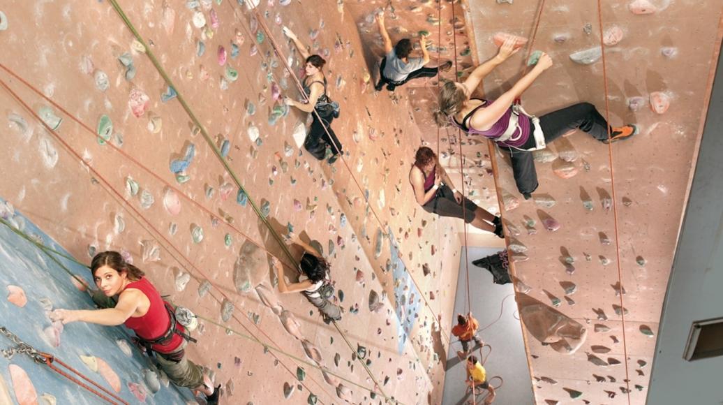 Die Kletterhalle Speicher 1 in Bielefeld