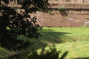 Burgmauern mit Wiese