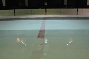 Eisfläche im Eisstadion