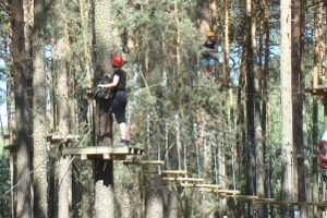 Kletterabenteuer im Waldseilgarten Havelberge
