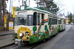 Kinderstraßenbahn Lottchen in Dresden