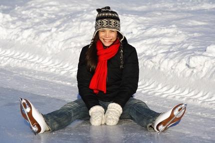 Die ungewöhnliche Eislaufschule