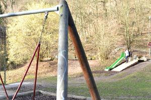 Blick über den Spielplatz