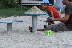 Wasserspielplatz im Erlebnispark in Tholey