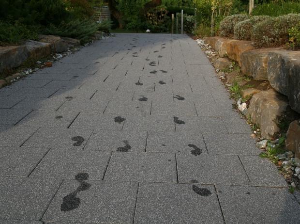 Fußspuren Außenbereich Meersburg Therme