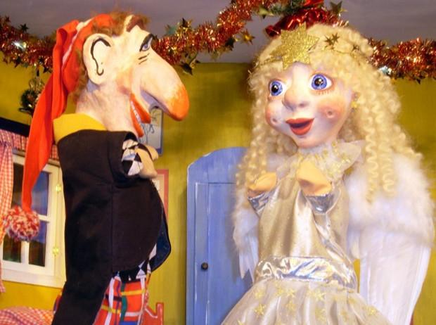 Der Weihnachtsmann ist krank (c) Puppentheater Plappermaul