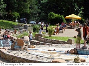 Wasserspielplatz und Wasserspielpark Feldkirchen