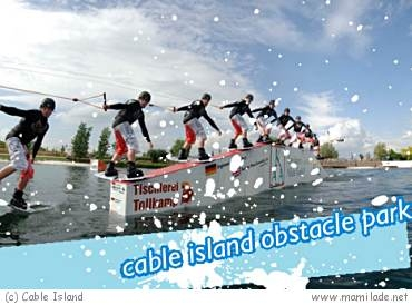 Cable Island in Magdeburg