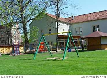 Puschkinhaus und Weidenmühle in Mühlhausen