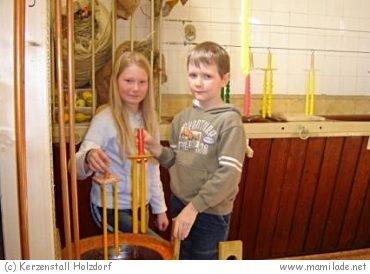 Kerzenstall in Holzdorf: Kerzen selber ziehen