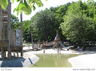 Wasserspielplatz in München