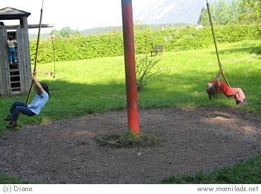 Abenteuerspielplatz bei der Kurgärtnerei