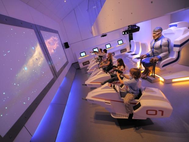 Space Bikes im Raumschiff des Sensapolis