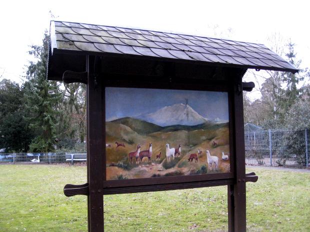 Schild im Tierpark Walldorf