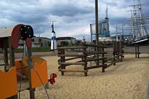 Spielplatz am Schifffahrtsmuseum (c) Stadt Bremerhaven
