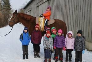 Winter-Geburtstags-Kinder (c) Pegasus Voltigier-& Reitverein Mühlacker
