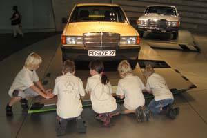 Kindergeburtstag im Mercedes-Benz Museum Stuttgart © Daimler AG