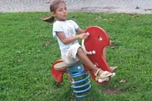 Spielplatz in der Ortsmitte Elend (c) Adriana