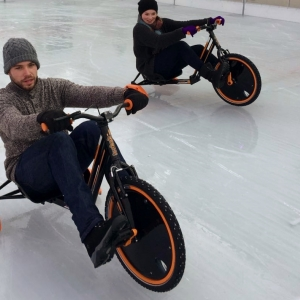 Icebyk Drift Trike im Elbe Ice Stadion in Brokdorf