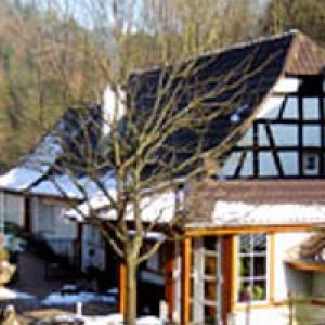 Blick auf das Gasthaus Mühlenschenke
