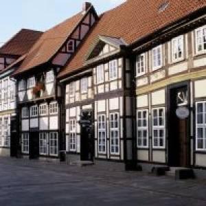 Historische Häuserzeile in Nienburg