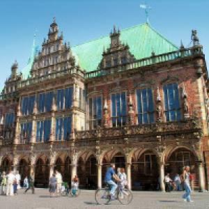 Blick auf das Rathaus in Bremen