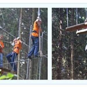 Klettern wie Tarzan (c) Kletterwald Schöneck