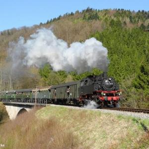 Schwäbische Waldbahn mit Dampf