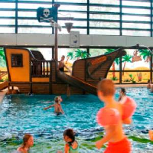Piratenschiff in der Sehusa-Wasserwelt in Seesen