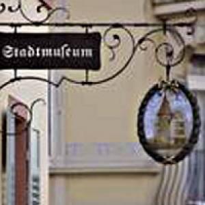 Eingangsschild Stadtmuseum Pforzheim