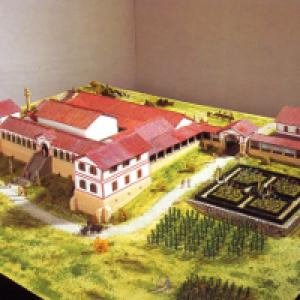 Modell der Villa Rustica in Hechingen